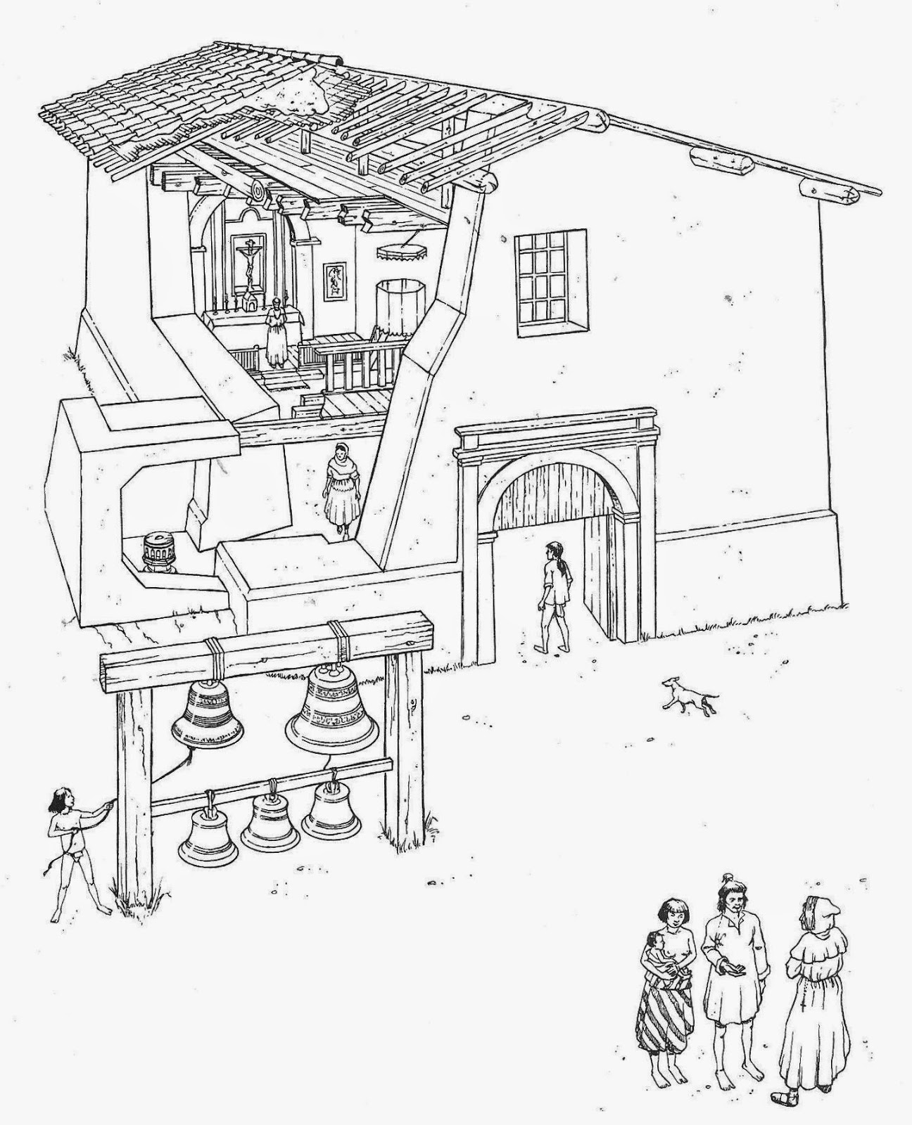 ca missions coloring pages - photo #23