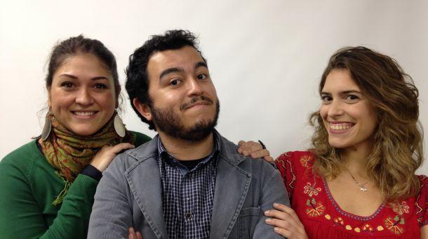 """Petria Chaves, Leopoldo Rosa e Júlia Arraes são os apresentadores do novo """"talk show"""" da CBN. Será que vai dar certo como dizem que deu na internet? Só o tempo dirá... (Foto: Divulgação)"""