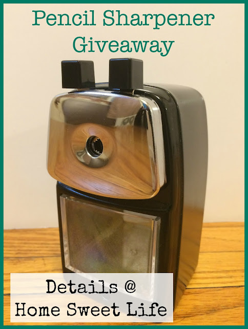 pencil sharpener giveaway, classroom friendly supplies