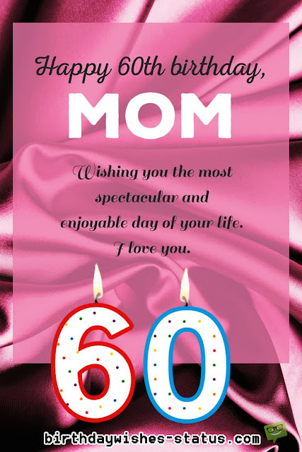 60th birthday wishes for mother