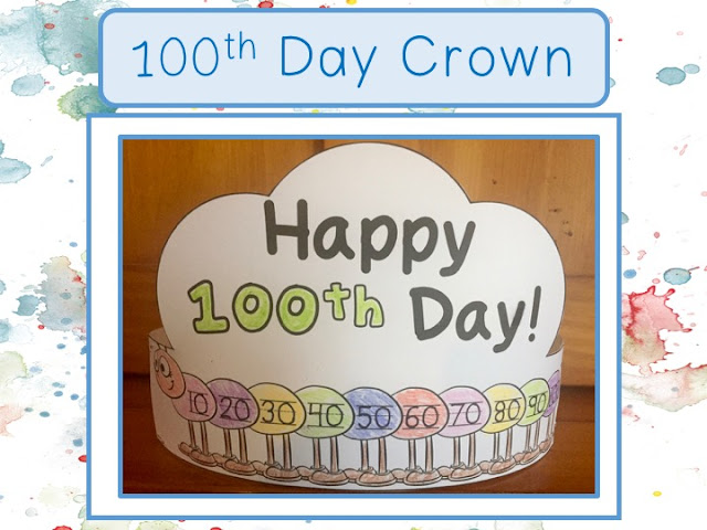 The 100th Day of School: Freebie Crown
