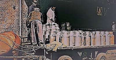 hollandia melkfabriek melkbussen uitladen