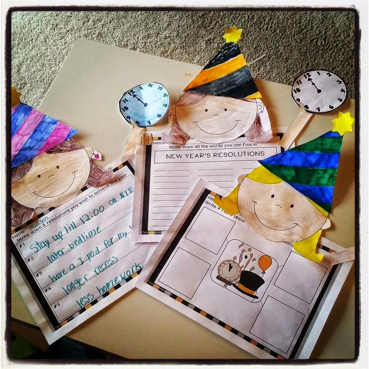 New Years Ideas in the classroom- writing craft