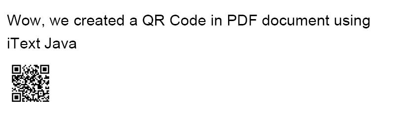 Add QR Code to PDF Java Itext Example   ThinkTibits!