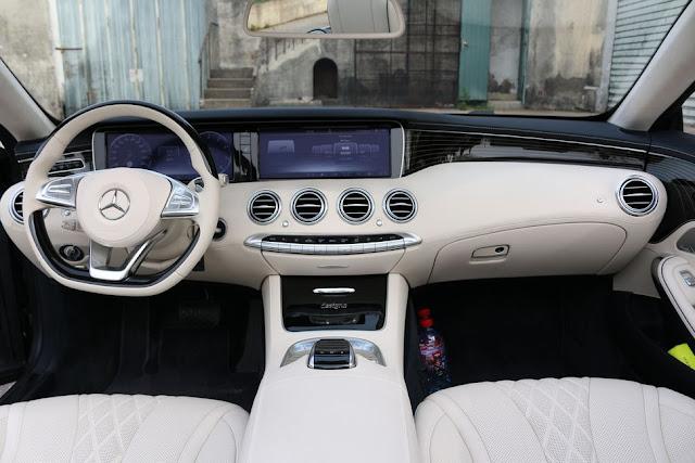 Bảng Tap lo Mercedes S500 Cabriolet thiết kế tinh tế, đầy đủ các tiện ích
