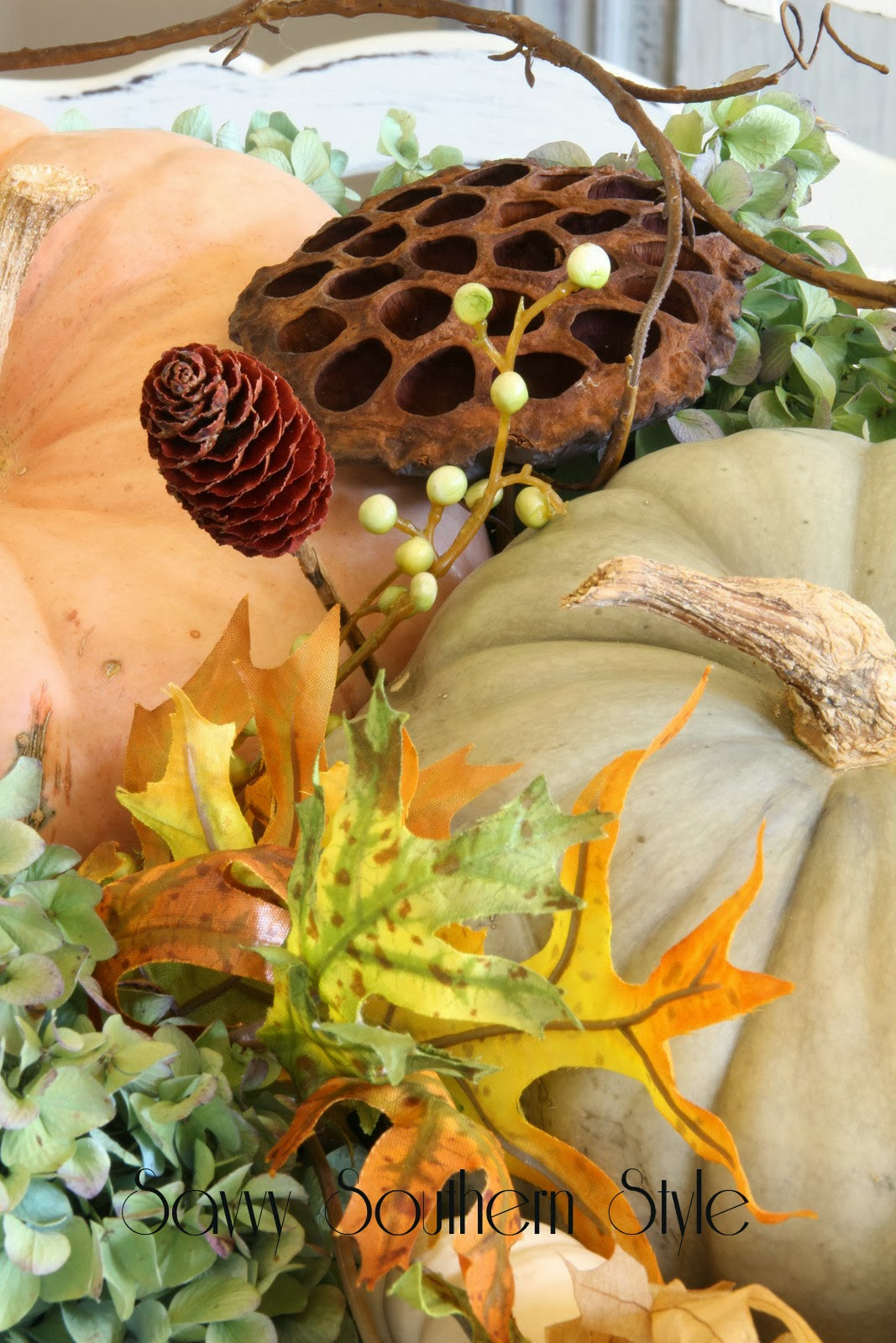 Savvy Southern Style : Natural Fall Centerpiece