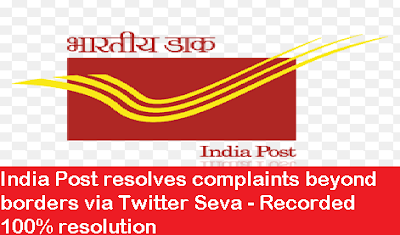 india-post-resolves-twitter-seva-paramnews-recorded-100%-resolution