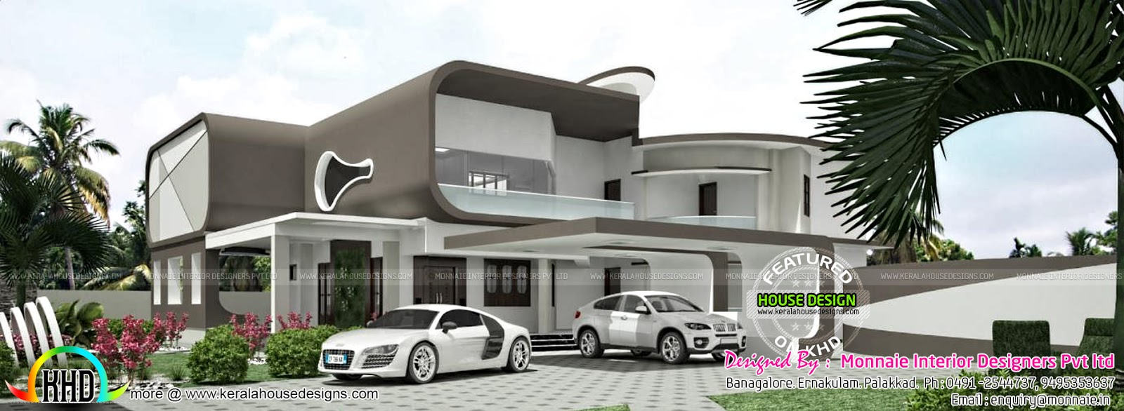 ultra modern home with interior design kerala home design and floor