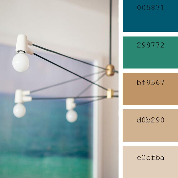 pantone color of the day, lyons blue and camel palette