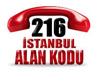 0216 İstanbul Anadolu yakası telefon alan kodu