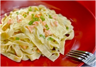 Tagliatelle with Smoked Salmon