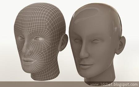free 3d model human face