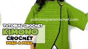 Cómo Tejer Abrigo Kimono a Crochet / Video Tutorial en Español