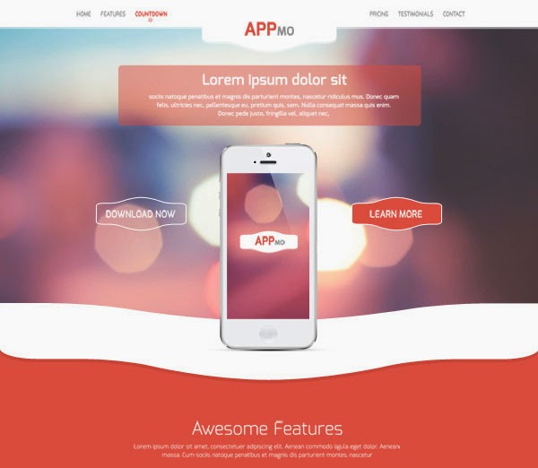 Appmo – One Page App Landing Page