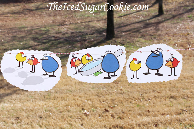 Peep And The Big Wide World Birthday Party Flag Bunting Banner Garland DIY Idea-Quack-Chirp-Peep
