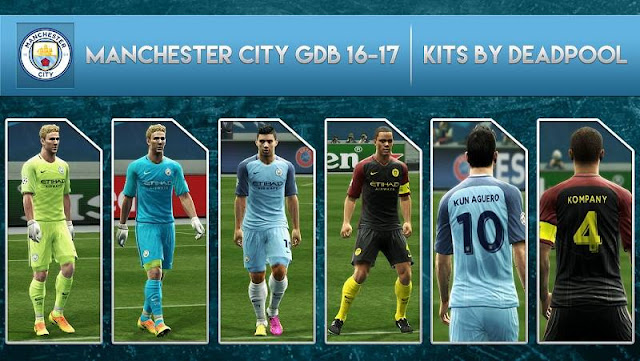 PES 2013 Manchester City Kit Season 2016/2017