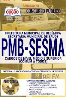 Baixar Apostila Concurso PMB SESMA 2018 PDF
