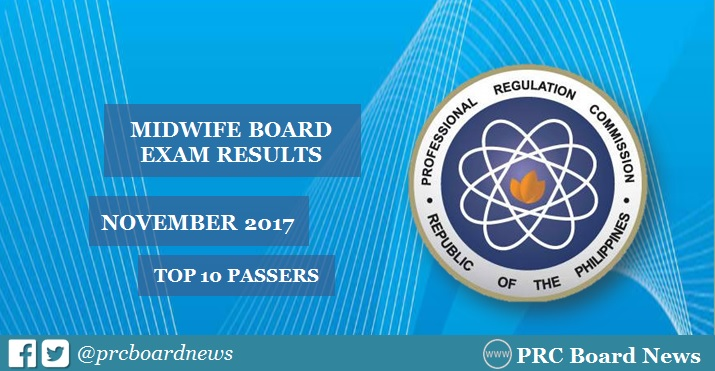 RESULTS: October 2017 Midwife board exam top 10 passers