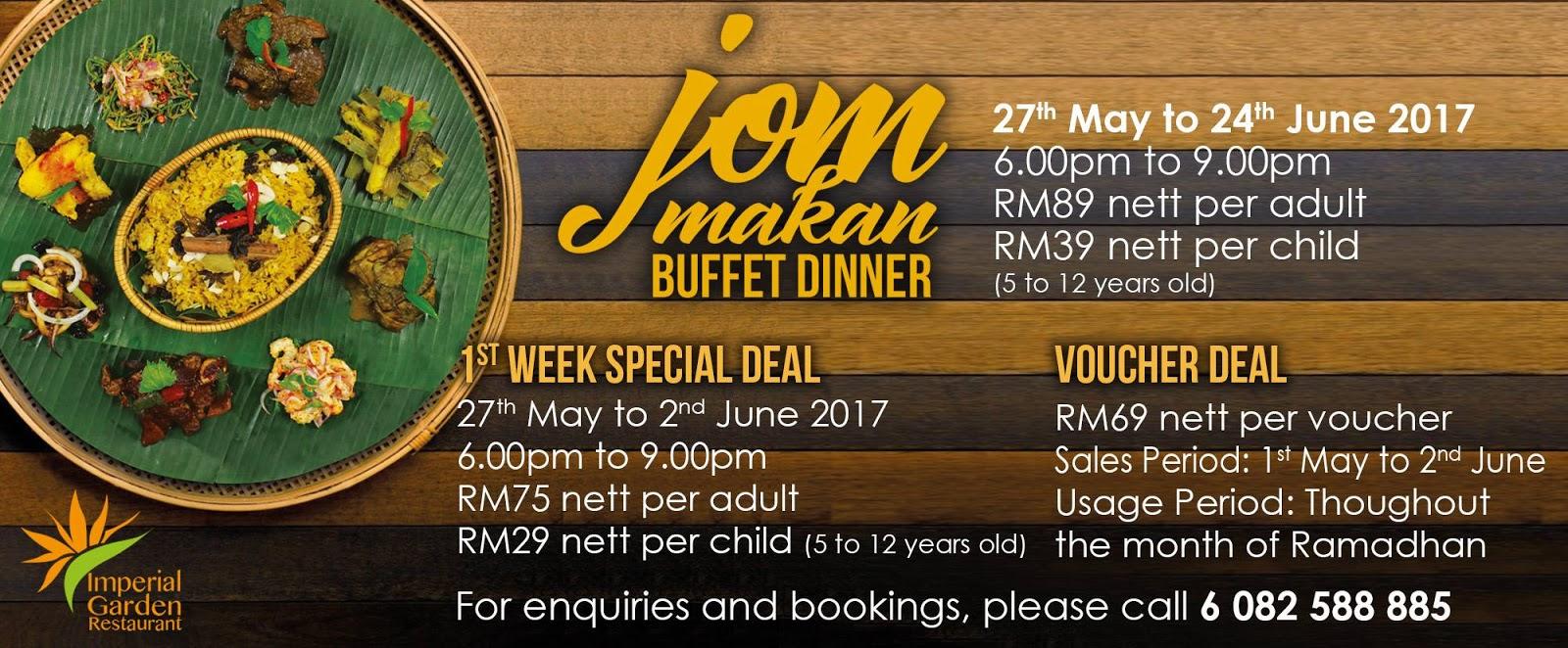 buffet ramadhan imperial hotel kuching