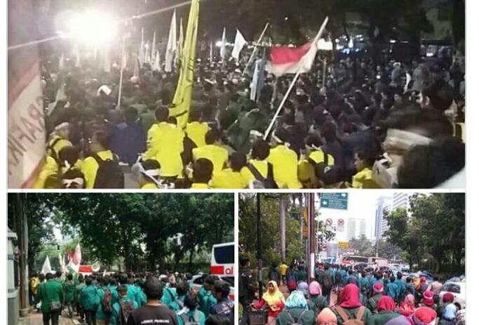 Jokowi Tak Mau Temui, Demo di Depan Istana Berakhir Chaos, 9 Mahasiswa Ditahan, Beberapa Luka-luka