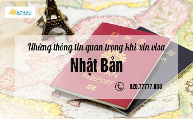 Những thông tin quan trọng khi xin visa Nhật Bản