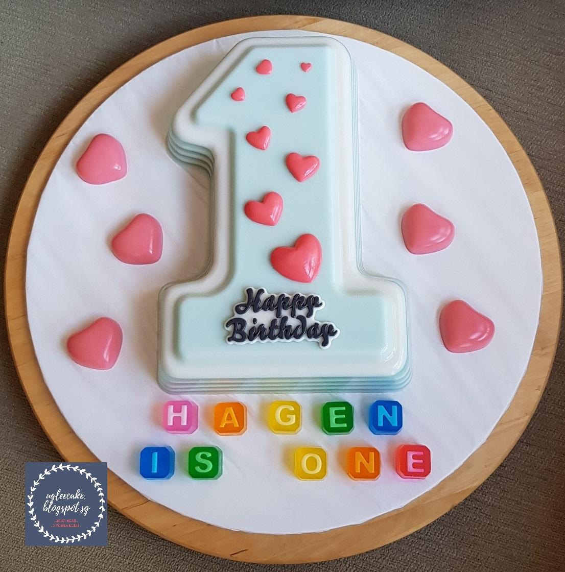 Track Cake Number 1 Uglee Agar