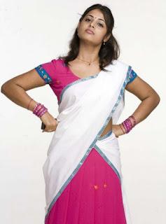white-half-saree