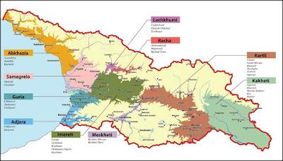cartina vino georgia