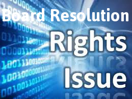 Board-Resolution-Rights-Issue-Shares