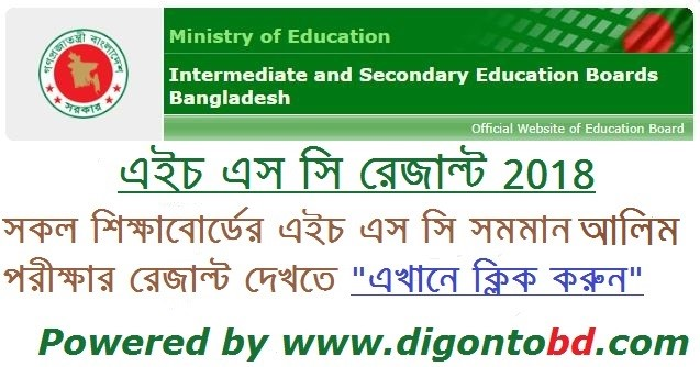 HSC রেজাল্ট 2018 | HSC ফলাফল 2018 | HSC and ALIM Result 2018 BD