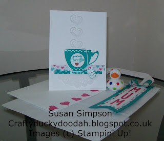 Stampin' Up! Made by Susan Simpson Independent Stampin' Up! Demonstrator, Craftyduckydoodah!, A Nice Cuppa, Cup & Kettle Framelits,