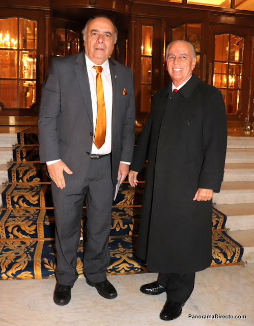 Héctor Lescano y Alejandro Bulgheroni en el Alvear Palace Hotel