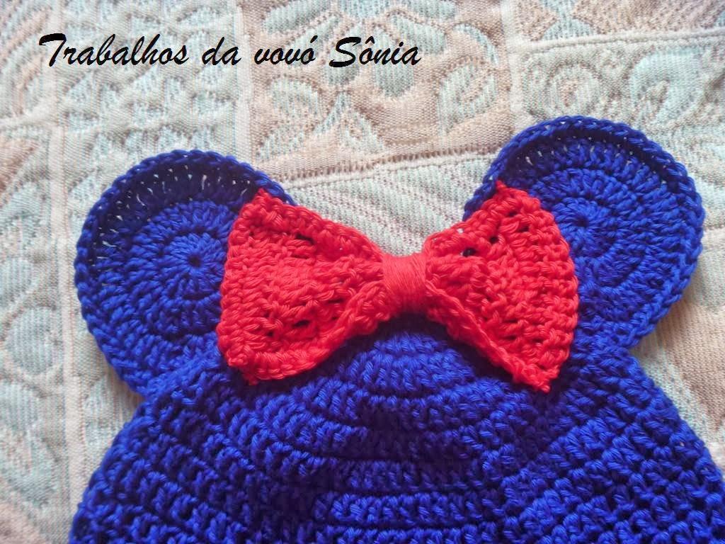 Fiz esse gorro infantil com linha Bella da Pinguim e agulha de crochê 3 mm.  Como Não tinha a linha na cor preta 8e4089140b5