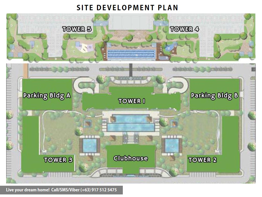 Site Development Plan | SMDC Grass Residences - 1 Bedroom | Condominium for Sale Quezon City