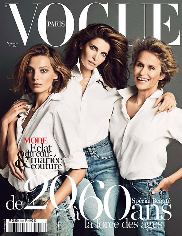 Stephanie Seymour, Lauren Hutton, Vogue Paris