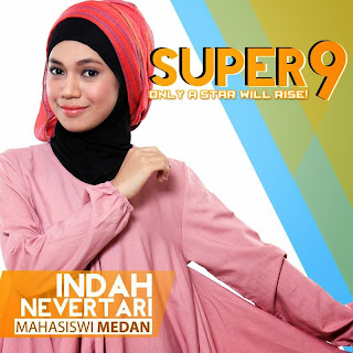 indah nevertari rising star indonesia super 9