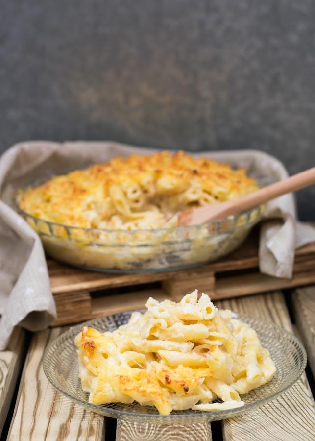 Receta de macarrones gratinados con queso