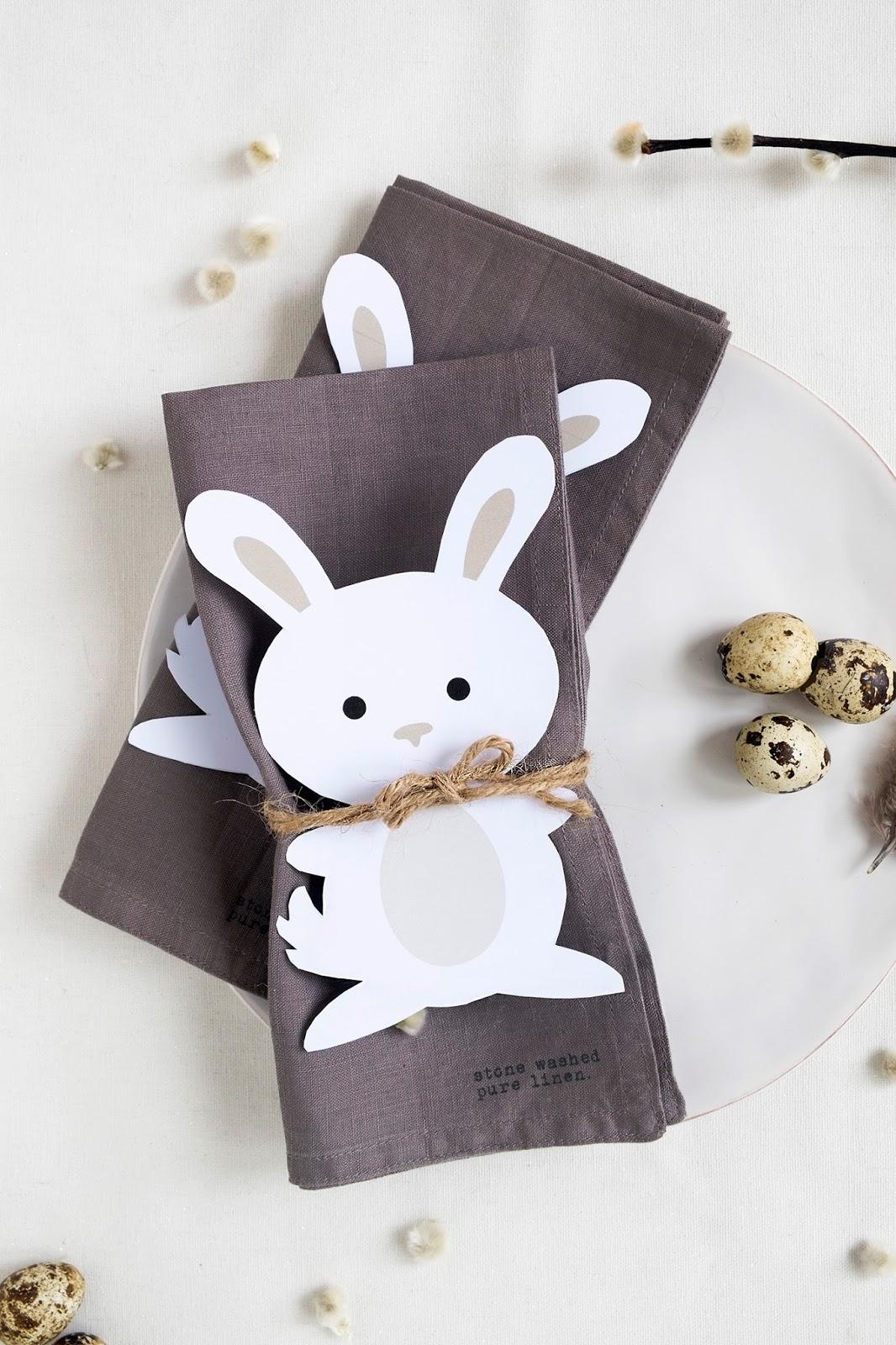 Simpel en schattige tafel decoratie voor Pasen