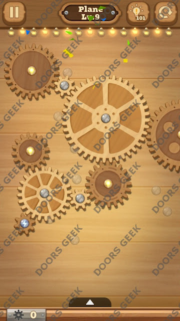 Fix it: Gear Puzzle [Plane] Level 9 Solution, Cheats, Walkthrough for Android, iPhone, iPad and iPod