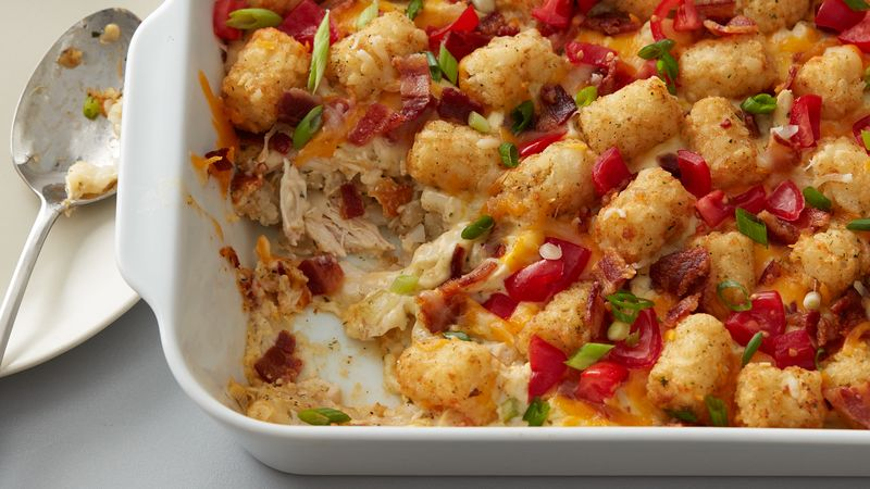 Gina's Italian Kitchen: Chicken Bacon Ranch Tater Tots ...