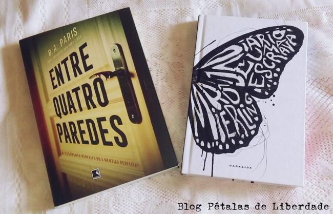 """Comparando livros: """"Entre quatro paredes"""", B. A. Paris x """"Diário de uma escrava"""", Rô Mierling"""
