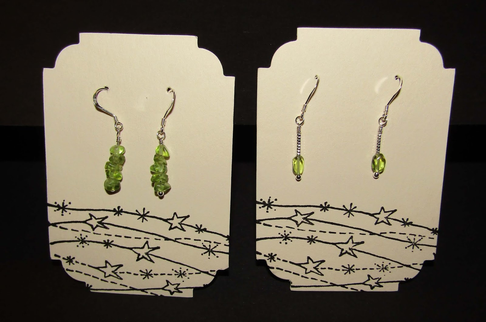 ff91ebadf Another sort of green - peridot and sterling silver earrings. The pair on  the right went to a colleague at work and the pair on the left went to my  mum in ...
