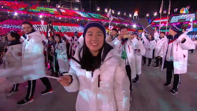 PyeongChang 2018 Winter Olympics Closing Ceremony flag waving Korean girl