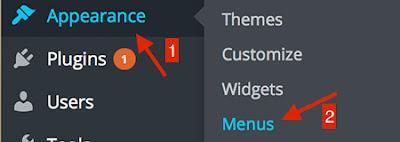 Manage Wordpress Website Menu
