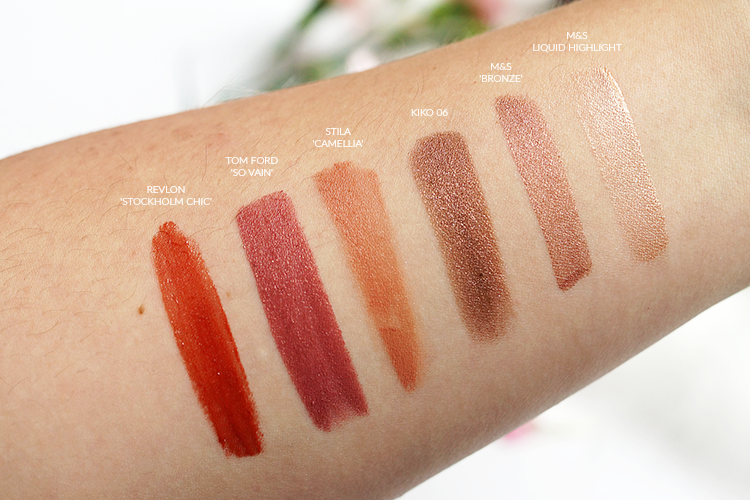 bronze-date-night-makeup-swatches