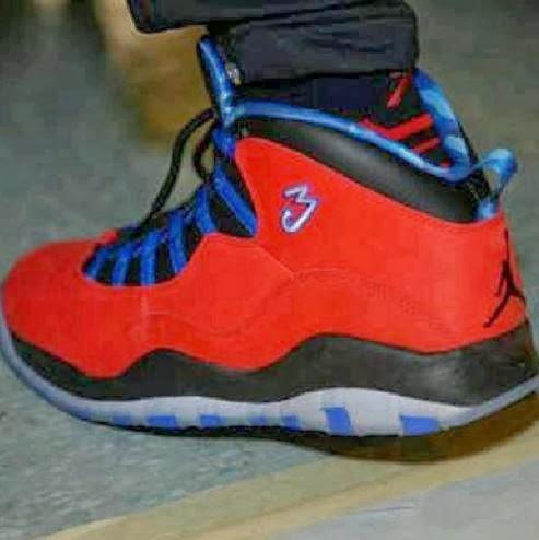 new arrival f29c0 cd780 Chris Paul Wearing His Air Jordan 10 PE Sneakers