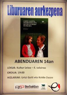 Leioako euskeraren inguruko liburuaren aurkezpena Kultur Leioan