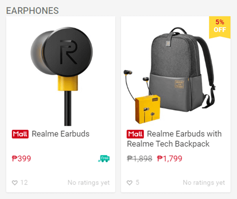 Realme Buds and Tech Backpack bundle