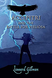 Accipitri and the battle for Heliosa by Lennard Gillman, cover designer Kura Carpenter