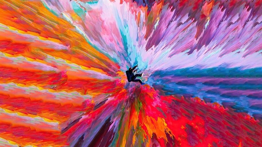 Colorful, Digital Art, Astronaut, 4K, #6.1267